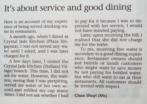 It's about service and good dining