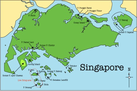 Singapore Islands Map The Lost Islands of Singapore | The Luggager's Travels