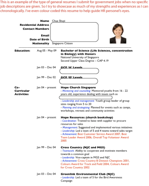 life science resume