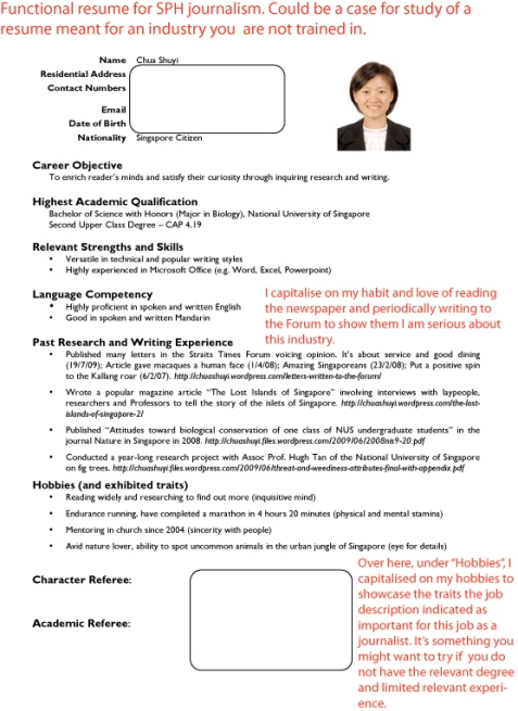 Sample resumes job hunters guide journalist sph yelopaper Choice Image